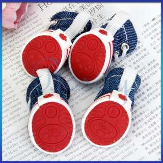Pet Dog Boots Sports Shoelace Shoes Booties Sneakers 5 Sizes