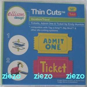 Thin Cuts Tickets, Admit One & Ticket Die Arts, Crafts & Sewing