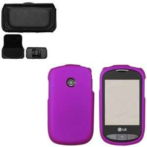 iFase Brand LG 800G Combo Rubber Purple Protective Case
