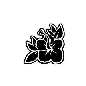 Inbloom Stickers HIBISCUS FLOWER LEAVES Blue Automotive
