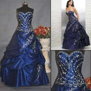 New Evening Prom Dress Ball Gown Custom Size 6 8 10 12 14 16 18 20 22