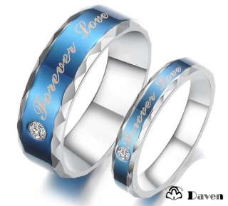 Titanium Steel Promise Love Ring Couple Wedding Bands Many Sizes Gifts