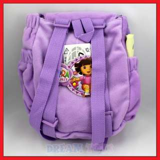 10 Dora the Explorer Purple Mr Backpack , Plush Backpack, New