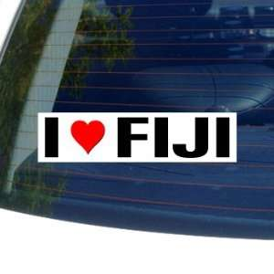 I Love Heart FIJI   Window Bumper Sticker Automotive