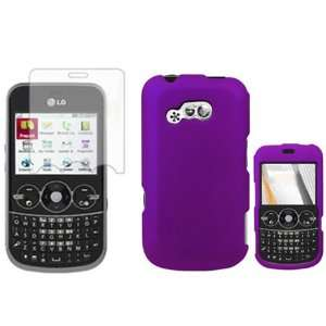 com iFase Brand LG 900G Combo Rubber Purple Protective Case Faceplate