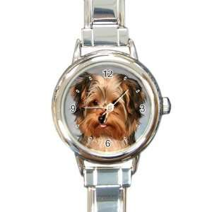Yorkshire Terrier Puppy Dog 10 Round Italian Charm Watch