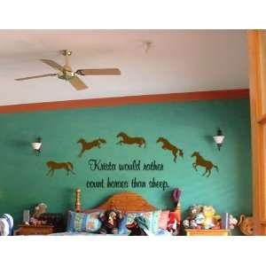 Personalized horse quote vinyl wall decal  Big 7 foot sticker  sold by