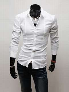 Luxury Stylish Slim fit Stylish Dress Shirt 4size 5Colors h530