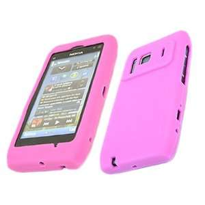 PINK Soft SILICONE Case Cover Pouch Skin for Nokia N8 Electronics