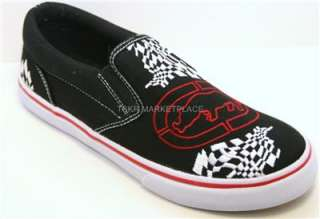 MARC ECKO UNTD. Swooper Black/White/Red Shoe Sz 7 Boys