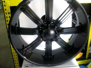 26HUMMER H2 SUT MATT BLACK WHEELS+TIRES ESCALADE 28