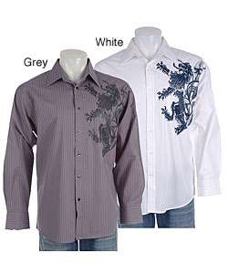 Eighty Eight Mens Printed Long Sleeve Shirt