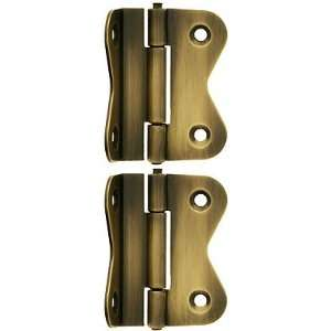 Hardware Reproduction. Pair of Large Offset Cabinet Hinges in Antique