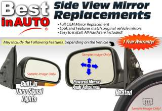 RH Right Heat Black Cap Power Electric Manual Folding Side View Mirror
