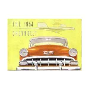 1954 CHEVROLET Sales Brochure Literature Book Piece