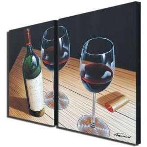 Dinner For Two Hand Painted Canvas Art Oil Painting