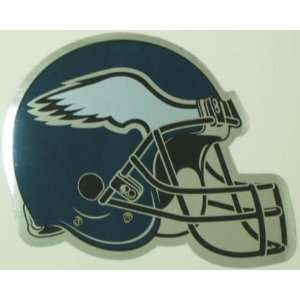 Philadelphia Eagles Helmet Logo Chrome NFL Car Magnet