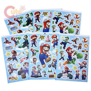 Super Mario Brothers Stickers Book Set  90pc
