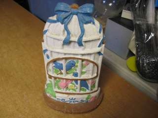 Cast Iron Birdcage Birds Decorative Doorstop Door Stop