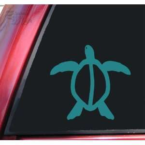 Hawaiian Honu Sea Turtle Teal Vinyl Decal Sticker