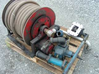 TRUCK MOUNTED POWERED HOSE REEL FUEL ECT W PTO, PUMP