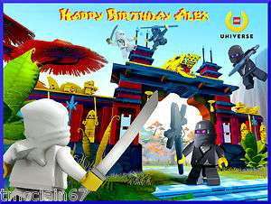 Lego Ninjago edible cake image topper  1/4 sheet