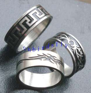 wholesale mixed lots 36PCS stainless steel enamel rings