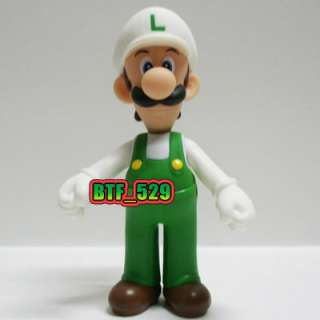 New Super Mario Brothers Action Figure ( Fire Mario and Fire Luigi