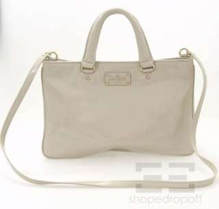 Kate Spade Bone Patent Leather Crossbody Handbag