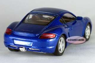 New Porsche Cayman S 134 Alloy Diecast Model Car Blue B169a