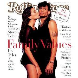 Liv & Steven Tyler, 1994 Rolling Stone Cover Poster by