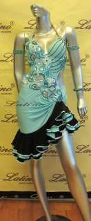 LATIN SALSA(BALLROOM) COMPETITION DRESS SIZE M (LT232N)