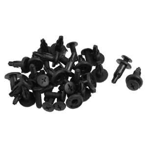 20 Pcs Car Door Panel Retainer Plastic Push Pin Clip Black Automotive
