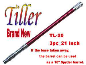 TL 20 Paintball Sniper Barrel 3pc_ 21 sRed _ Spyder