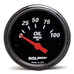 1427 Black 2 1/16 0 100 PSI Short Sweep Electric Oil Pressure Gauge