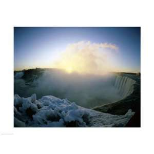 Sunrise over a waterfall, Niagara Falls, Ontario, Canada Poster (24