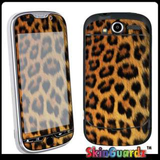 Black Yellow Cheetah Vinyl Case Decal Skin To Cover HTC MyTouch 4G