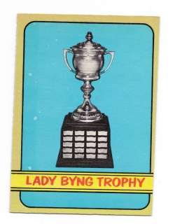 1972 73 OPC # 168 LADY BYNG TROPHY ( RATELLE ) CARD