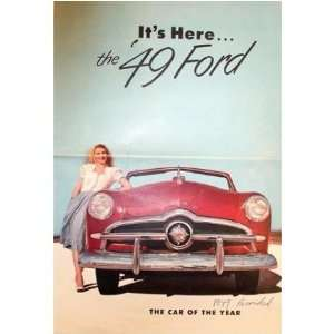 1949 FORD Sales Brochure Literature Book Piece