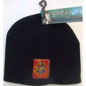 Harry Potter Hogwarts Crest Black Beanie Youth Size