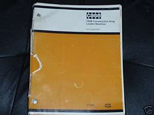 CASE 780B CONSTRUCTION KING LOADER BACKHOE PARTS BOOK
