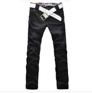 Fashion Men Stylish Designed Straight Slim Trousers Casual Pants