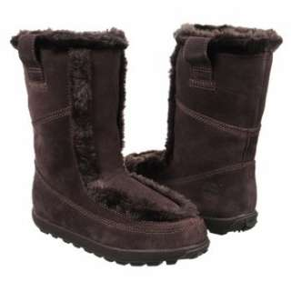 Timberland 23658 Mukluk Pull On Winter Suede Boots Faux Fur Dark Brown