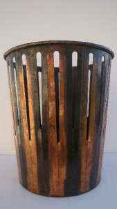 Industrial Machine Age Waste Can Art Deco Copper Finish Trash can