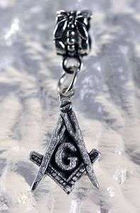 freemason Masonic Sterling Silver jewelry bead Charm