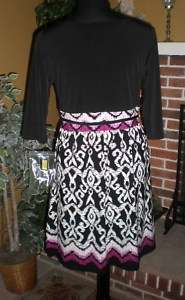 NEW WOMENS JESSICA HOWARD BLACK PRINT SHORT DRESS SIZE 12