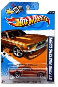 2012 Hot Wheels Muscle Mania   Ford #116 1967 Ford Mustang Coupe