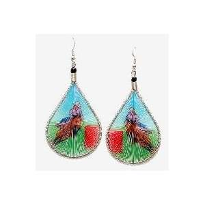 Barrel Racer Earrings Hand Made Threaded Earrings Arts