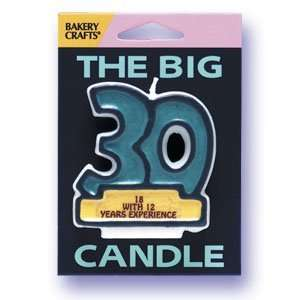 30th Happy Birthday Candle 18 with 12 Year Experience Cake Topper