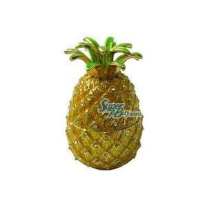 Pineapple   Jewelry Trinket Box Swarovski Crystal (Jf8911) Beauty